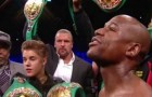 Triple H walks Mayweather to ring!